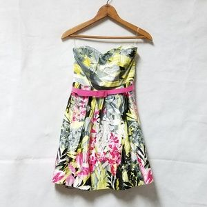 Speeckless Floral Strapless Yellow Formal Dress 3